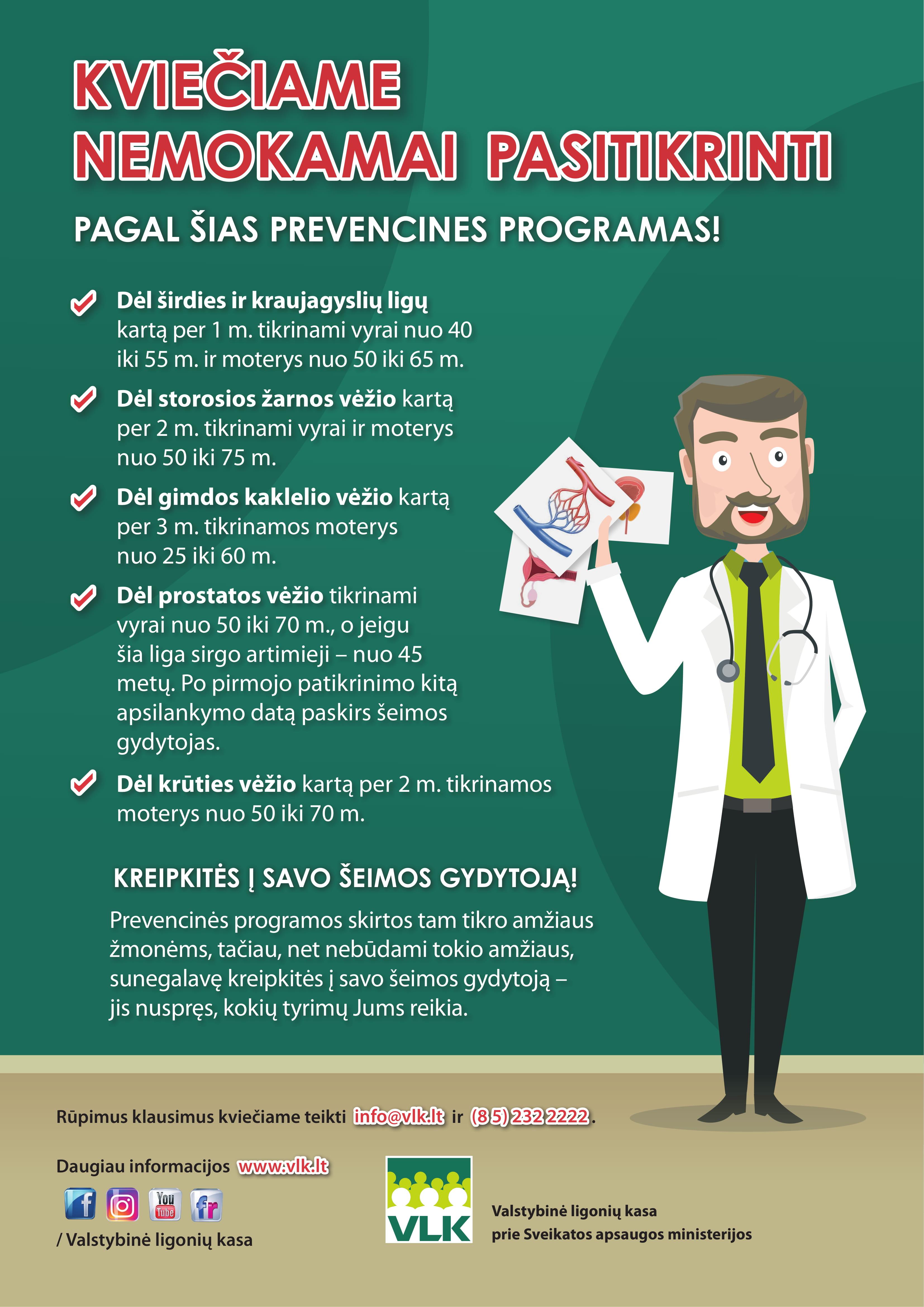 vlk prevencinės programos