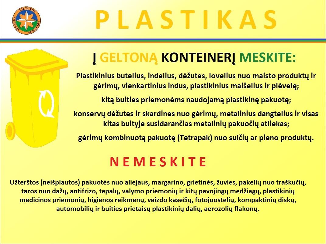 plastiko konteineris