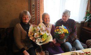 Marijona iš Kauno rajono švenčia 100-metį